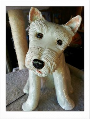 Custom Made Sculpted Ceramic Dog