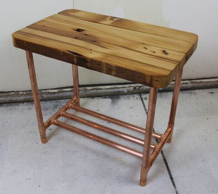 Custom Made Reclaimed 2x4 & Copper Pipe Side Table