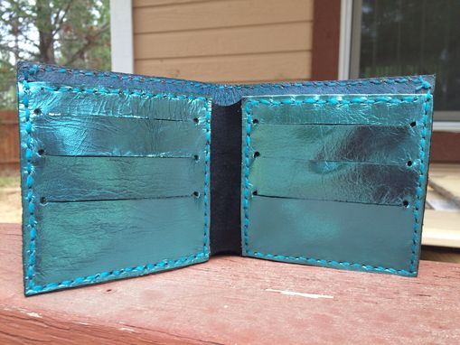 Custom Made Wolf Moon Leather Wallet Maverick Style