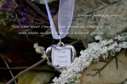 Custom Made Wedding Bouquet Silver-Plated Heart Charm