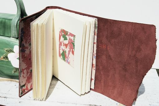 Hand Crafted Leather Bound Journal Rose Travel Diary