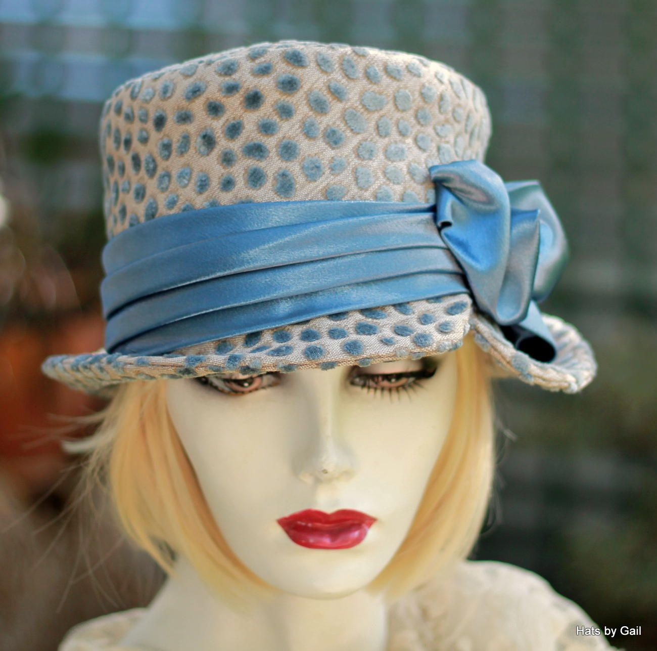 1ca810527c9 Custom Made Ridding Bucket Hat In A Textured Designer Fabric In Soft Powder  Blue