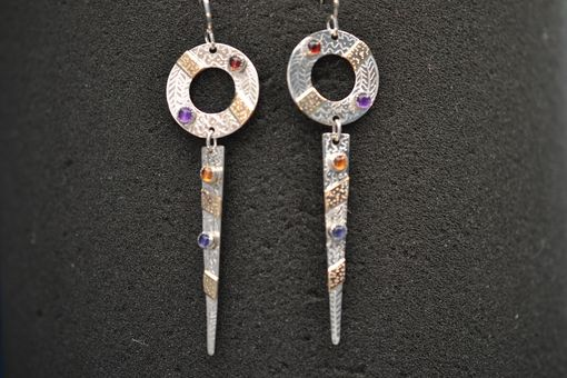 Custom Made Sterlingsilver + 14k Gold Fill Damgle Earrings