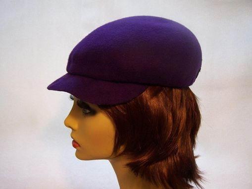Custom Made Wool Felt Two In One Hat In Purple