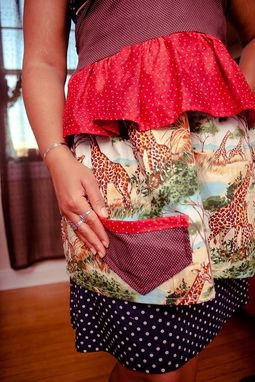 Custom Made Fantastic Ruffled Giraffe Apron - Made To Order