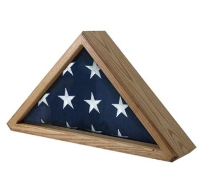Custom Made Cedar Flag Display Case