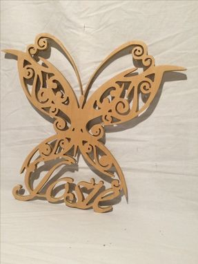 Custom Made Personalized Butterfly With Your Name And Your Favorite Color