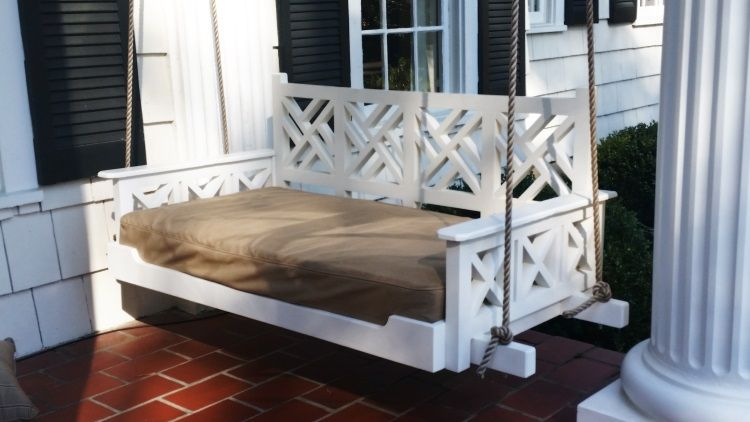 Hand Made Chippendale Porch Bed Swing By Ambassador