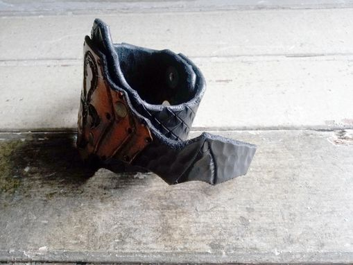 Custom Made Leather Bat Wing Cuff
