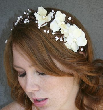 Custom Made Bridal Headband, Floral And Woods, Headbands For Weddings, Woodland Wedding