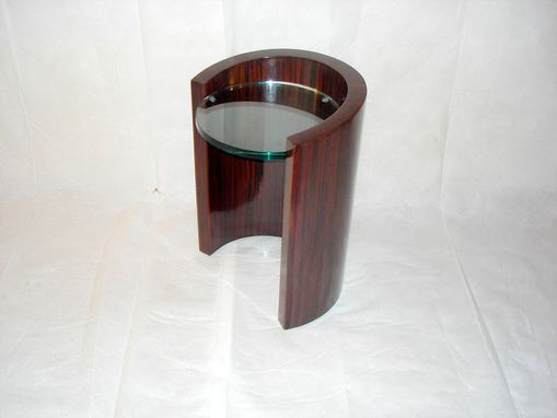 Custom Made End Table In Ebony
