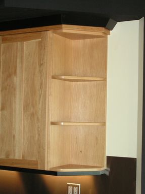 Custom Made Contemporary Brown Hickory Kitchen With Stainless Accents