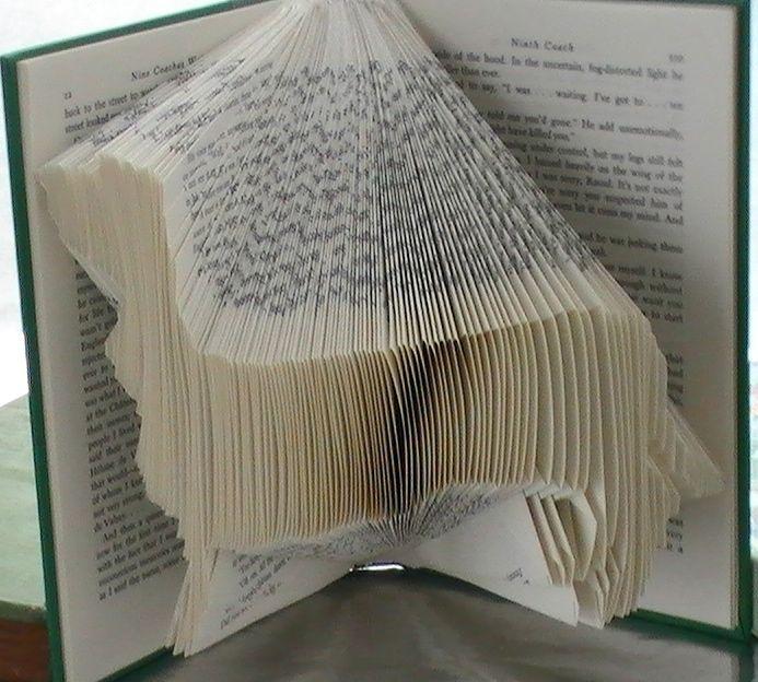 Hand Crafted Custom Dog Art Book Origami Dachshund Folded Book