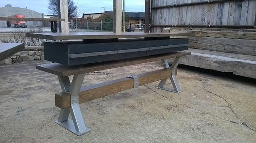 Custom Made Industrial Farmhouse Coastal Industrial Office Credenza Or Buffet/Sofa Table