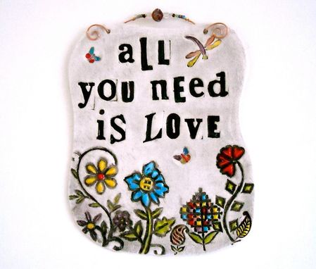 Custom Made All You Need Is Love Beatles Lyrics Quote Sign