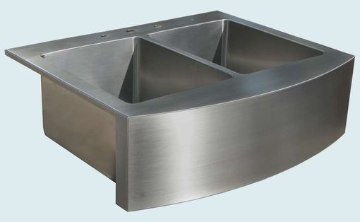 Custom Made Stainless Sink With Curved Apron