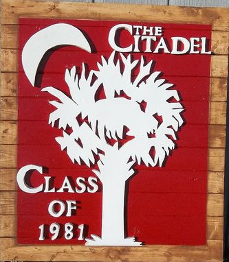 Custom Made Big Red Sign Charleston South Carolina