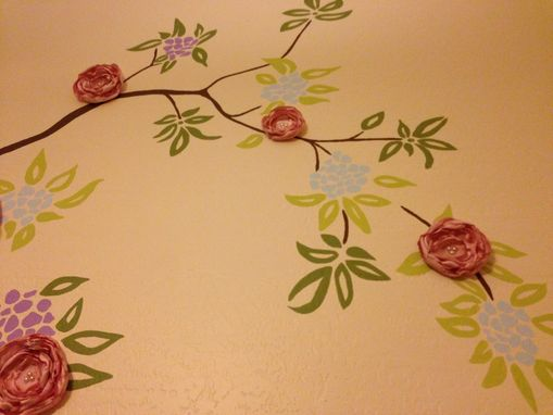 Custom Made Simple Tree Mural In Nursery
