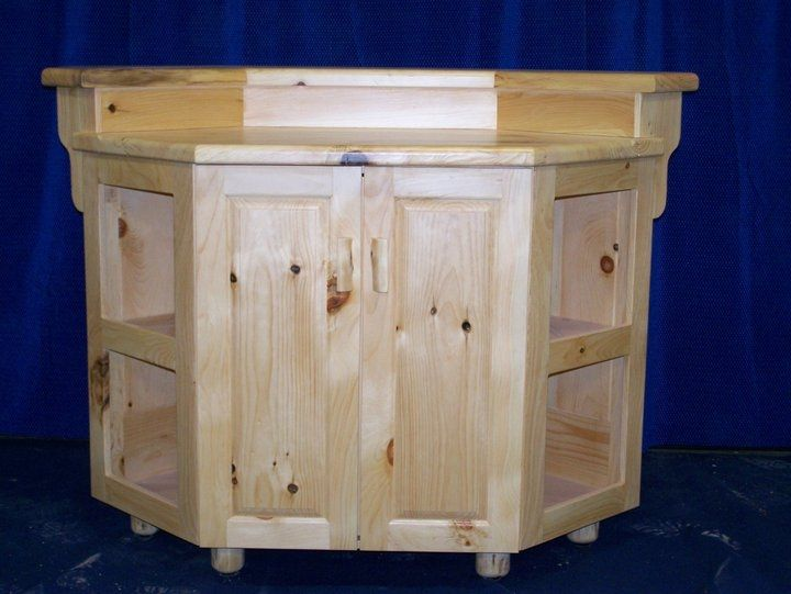 Hand Crafted Knotty Pine Free Standing Bar By Fbt Sawmill Custom Wood Furniture Custommade