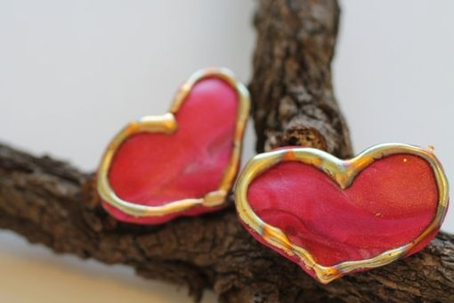 Custom Made Teeny Tiny Heart Barrettes, Valentines Day Hair Clip