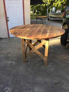 Custom Made Reclaimed Barnwood White Oak Table.