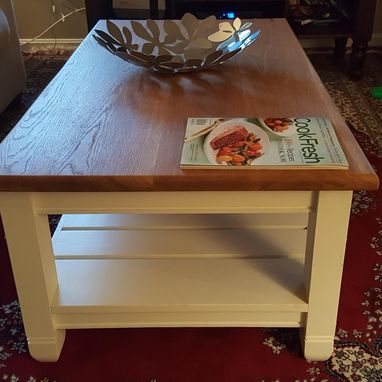 Custom Made Solid Oak Coffee Table