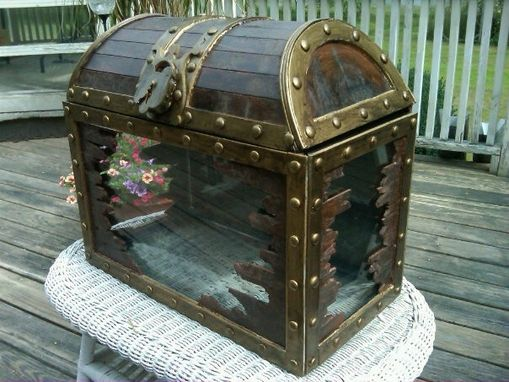 Custom Made Treasure Chest Fish Tank