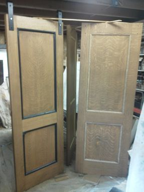 Custom Made Refinished Antique Fir Room Divider Doors And Closet And Bathroom Pocket Doors