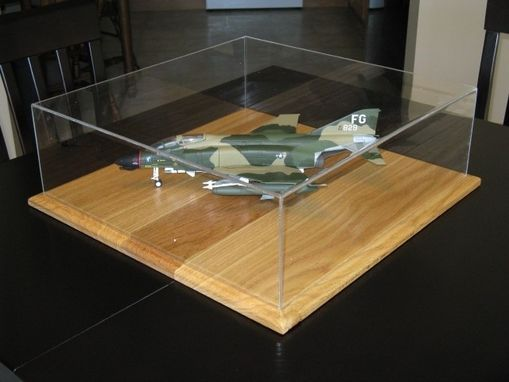 Custom Made Acrylic And Oak Scale Model Display Case