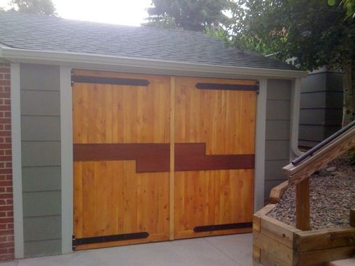 Custom Made Barn Style Garage Doors