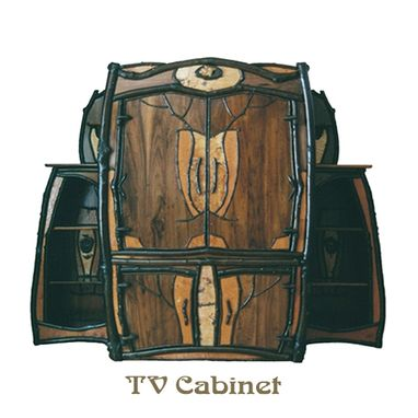 Custom Made Large Nouveau Rustic Tv Cabinet