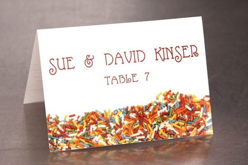 Custom Made Wedding Place Cards - Sprinkles - Escort Cards Custom Designed