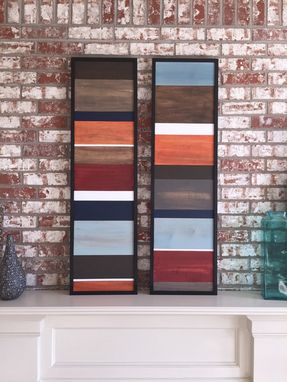 Custom Made Wood Wall Art - Wood Art - Reclaimed Wood Art - Color Block Collection - 16x40 Set