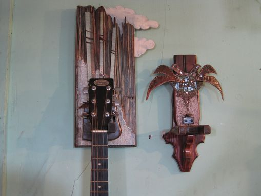 Custom Made Guitar Holders With Pic Stash