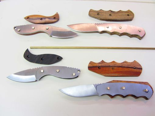 Custom Made Custom Knife - Drop Point Hunter's - Stainless Steel Blade - Handmade Mexican Bocote Wood Handle