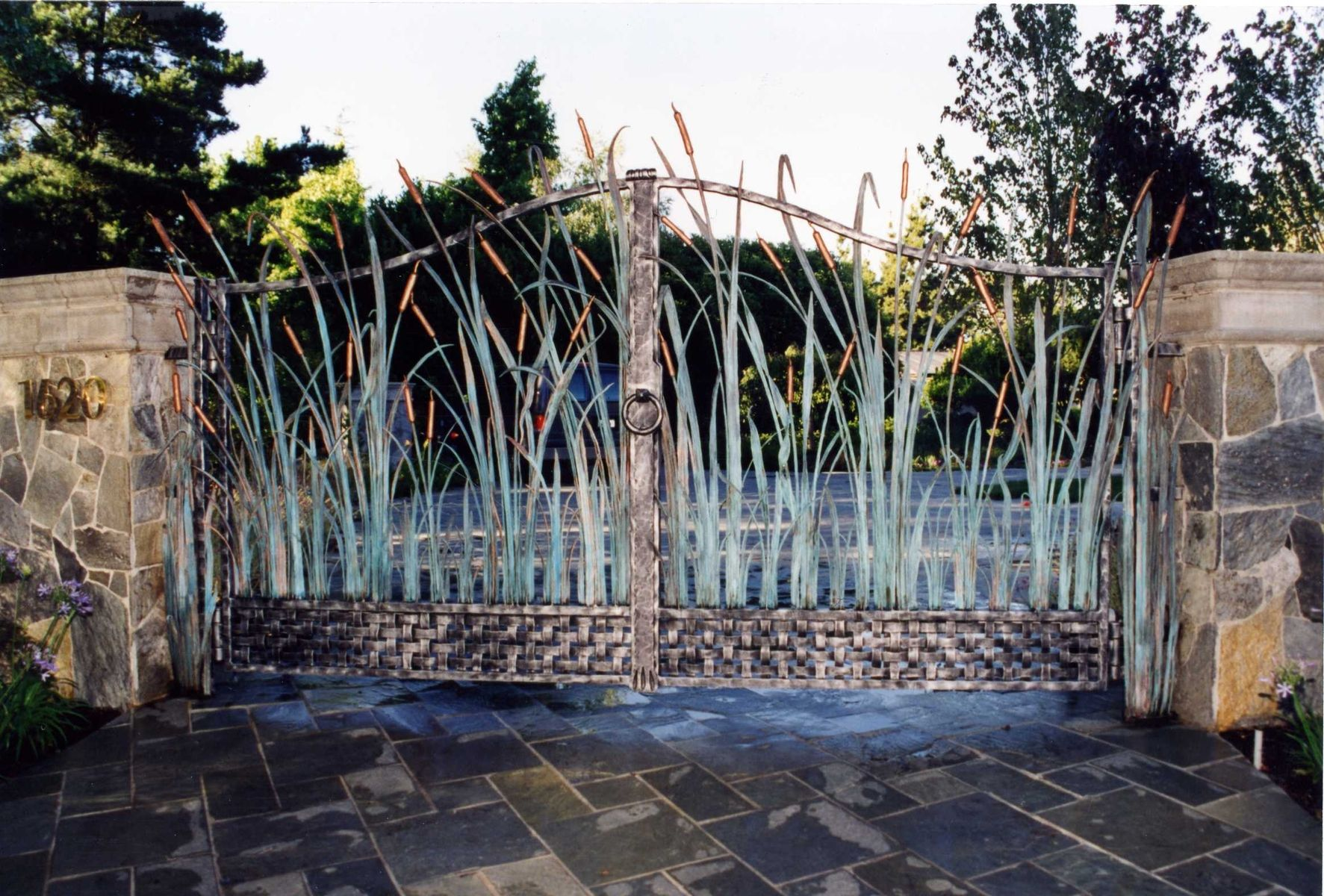Hand Made Cattail amp Reed Estates Entry Gates Fencing By
