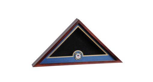 Custom Made Marine Corps Flag Medallion Display Case