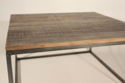 Custom Made Reclaimed Wood Top Coffee Table