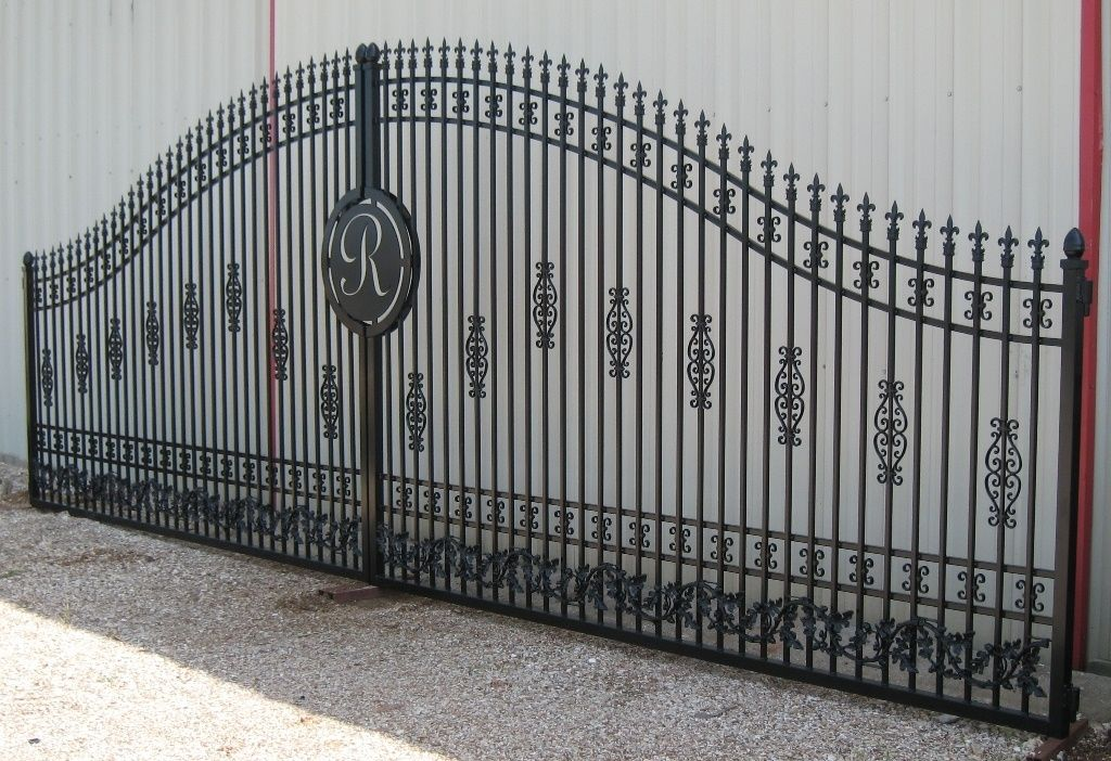 Hand Crafted Double Ornamental Iron Gates Highly