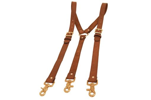 Buy Custom Brown Leather Suspenders Made To Order From