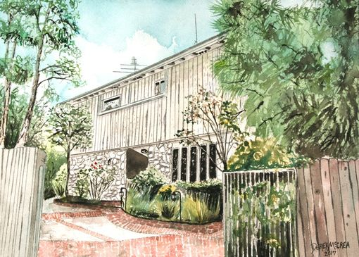 Custom Made House Watercolor Painting