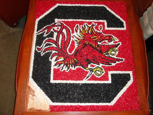 "Custom Made Stone Art - South Carolina Gamecocks, Block ""C"""