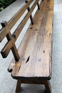 Custom Made Live Edge Barnwood Bench With Back Rest 15 Long By Intelligent Design Woodwork