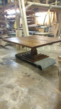 Custom Made Square Tuscan Pedestal Table