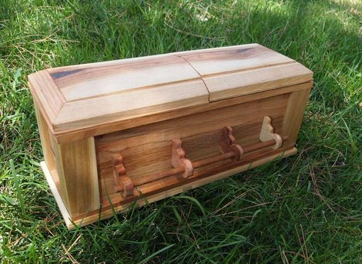 Custom Made 14 Inch Halloween Mini Vampire Casket, Doll Casket, Wine Casket