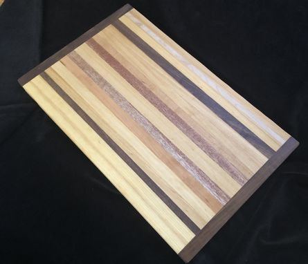Custom Made Sampler Butcher Block Cutting Board Made With A Variety Of Hardwoods