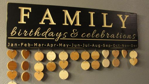 Custom Made Family Birthday Board, Celebration Board