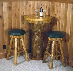 Custom Made Wooden Pub Tables And Stools