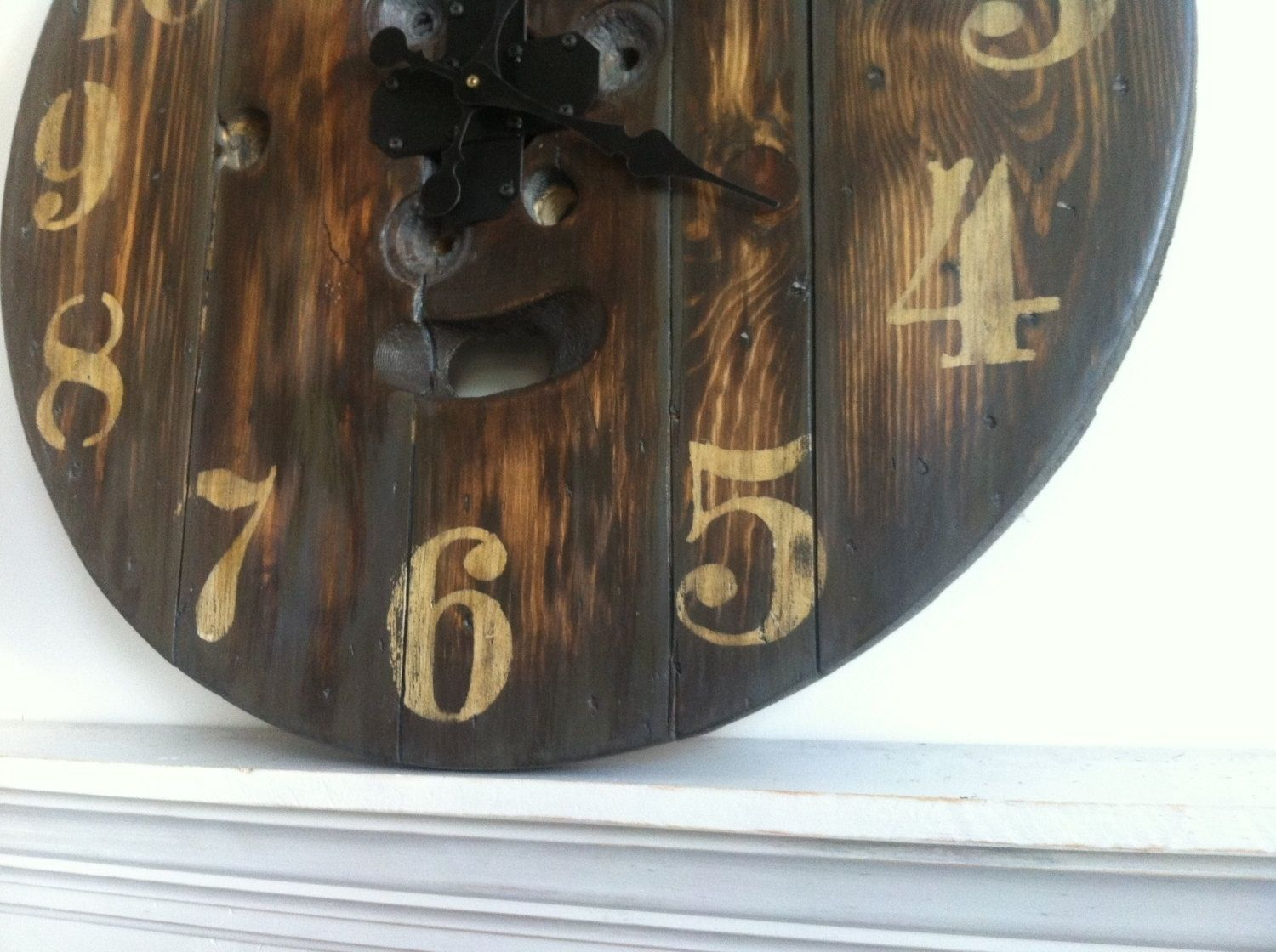 Handmade Upcycled Spool Clock By Jbjunk Market Custommadecom