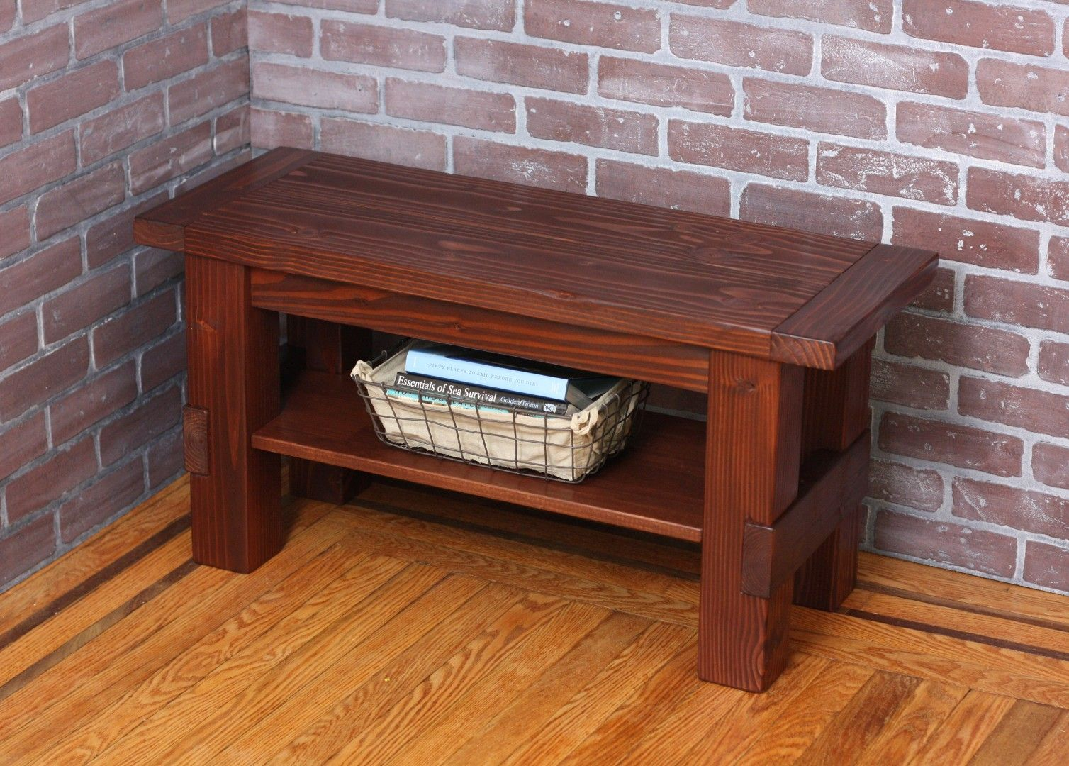 buy a custom solid wood storage bench made to order from blissopia. Black Bedroom Furniture Sets. Home Design Ideas